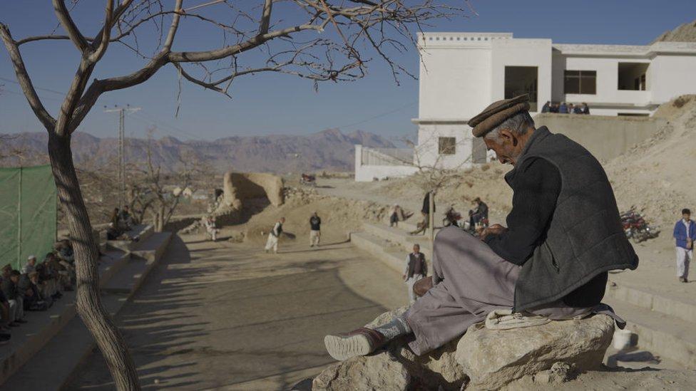 Un hombre hazara en Pakistán