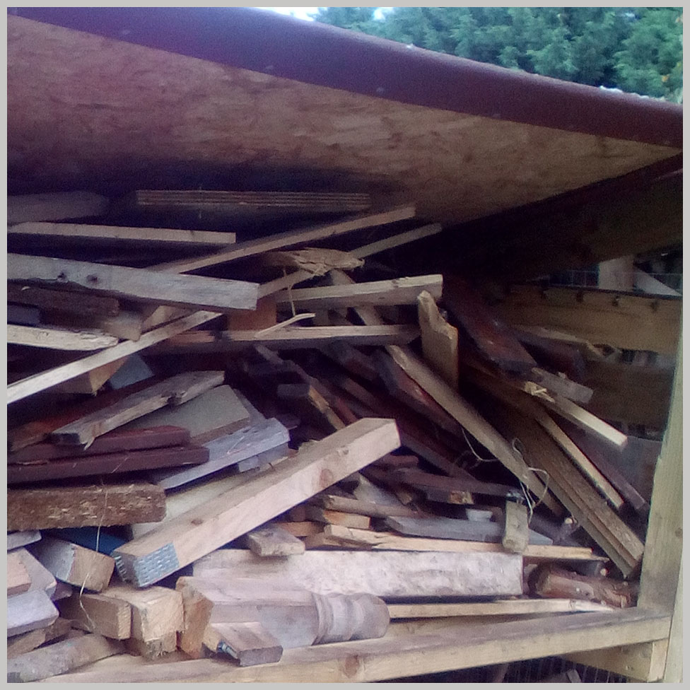 Wood drying out in a shed