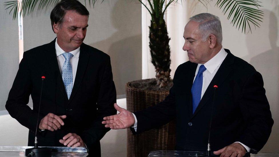 Bolsonaro, Benyamin Netanyahu ile de bir araya gelmişti.
