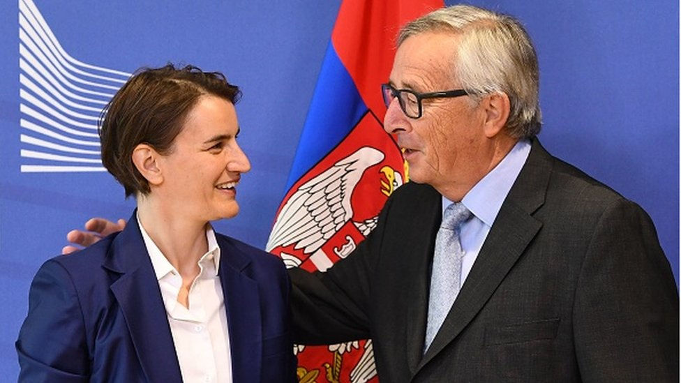 Ana Brnabić i Žan-Klod Junker