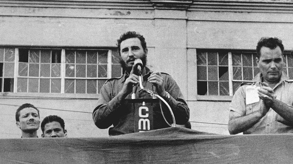 Fidel Castro en 1961.