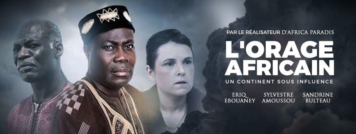 "The French language poster of the film ""The African Storm"""