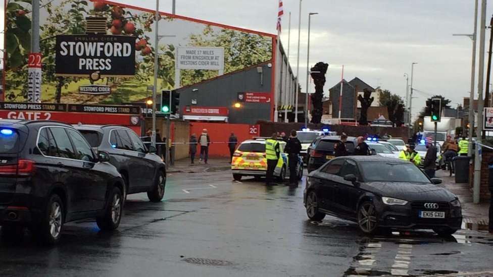 man faces trial after car driven into gloucester rugby fans bbc news bbc com