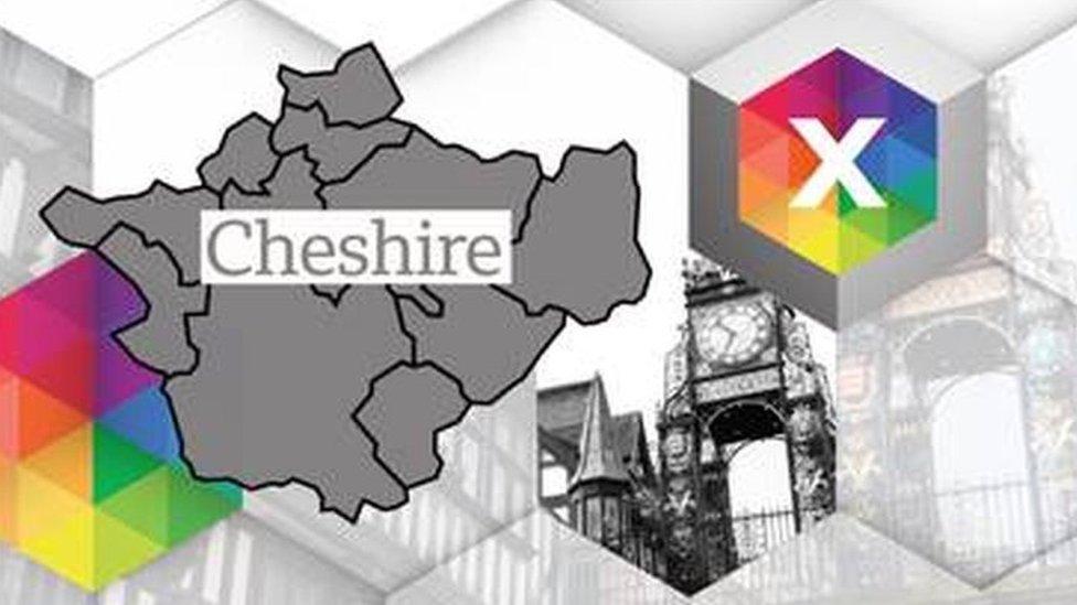 Cheshire constituencies map
