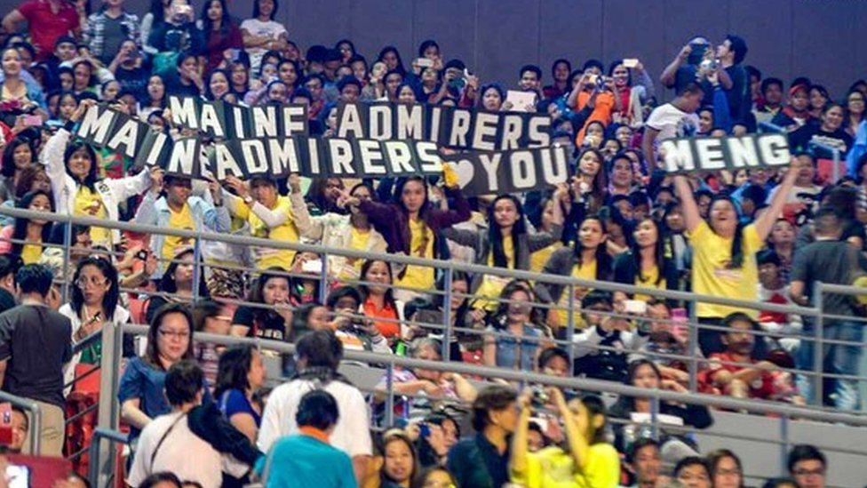 Fans at the charity concert in Manila