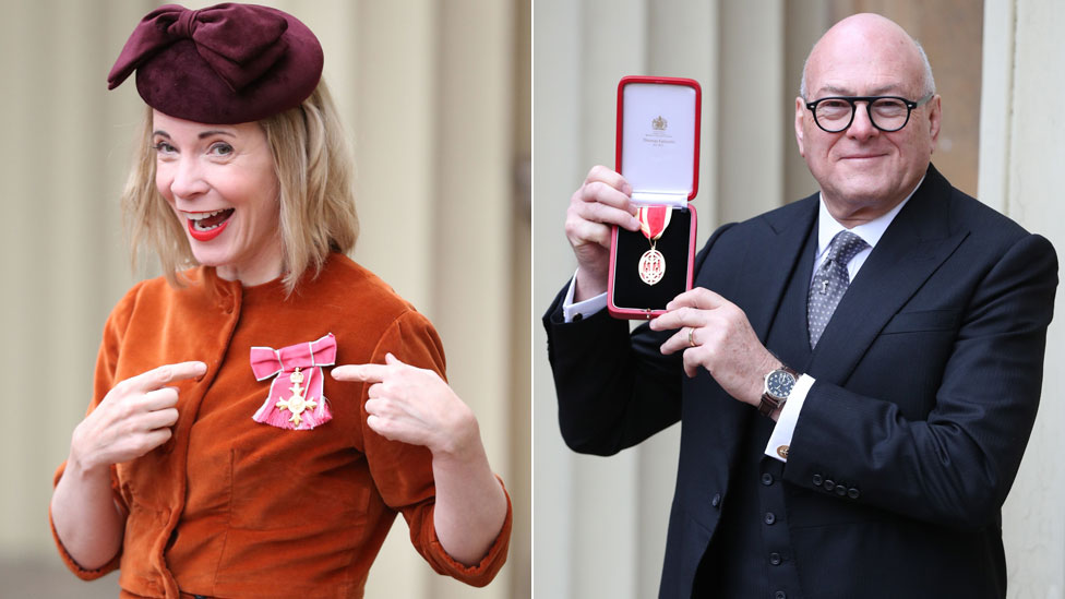 Lucy Worsley and Sir Lloyd Dorfman