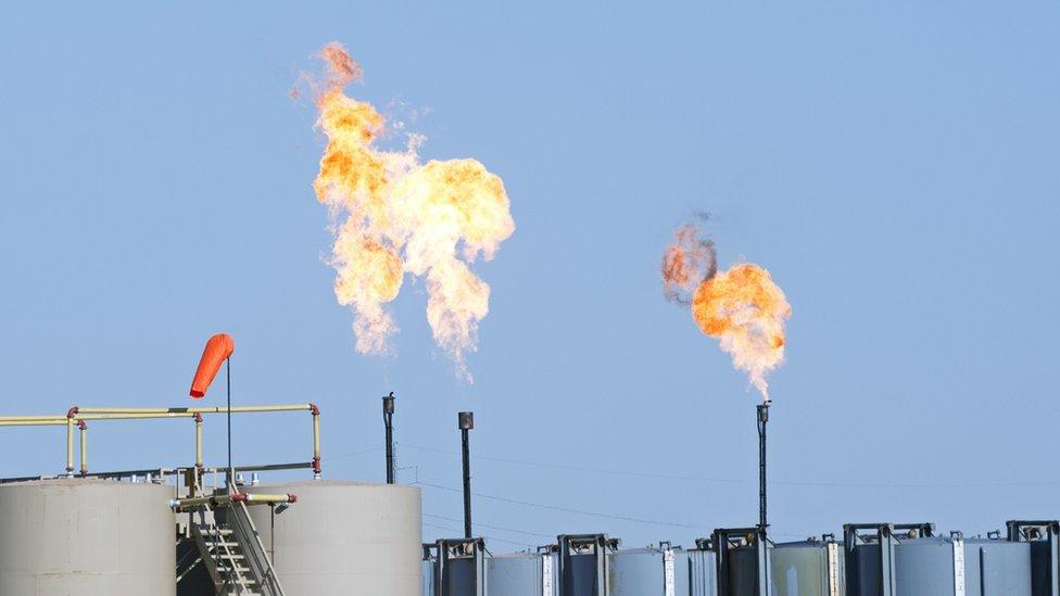 Gas metano quemándose