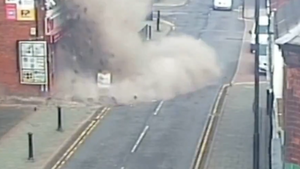 Gas explosion on CCTV: Police appeal for information