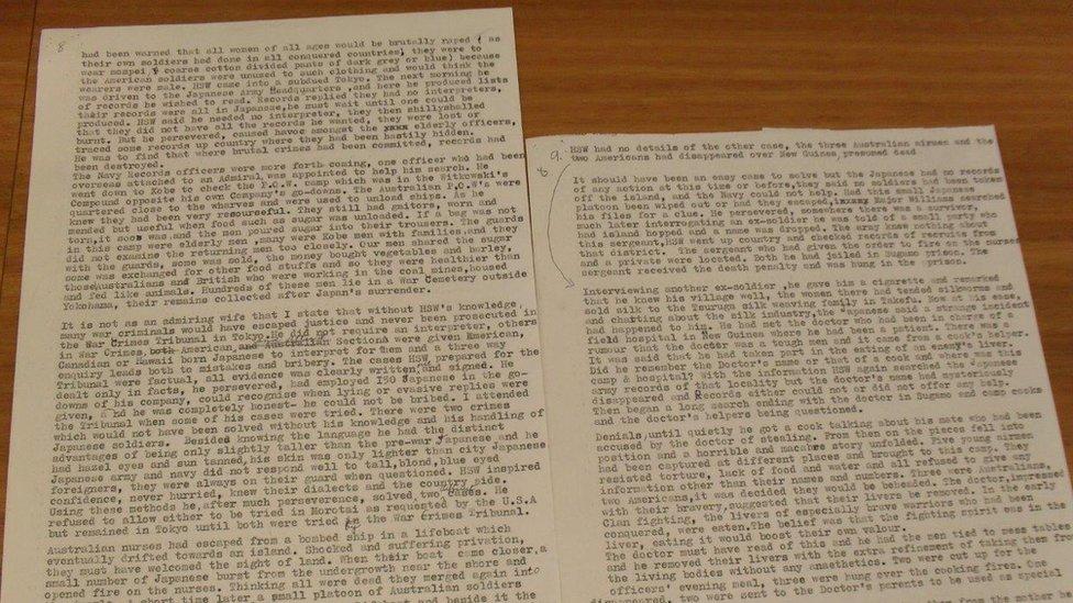 Documento sobre la masacre