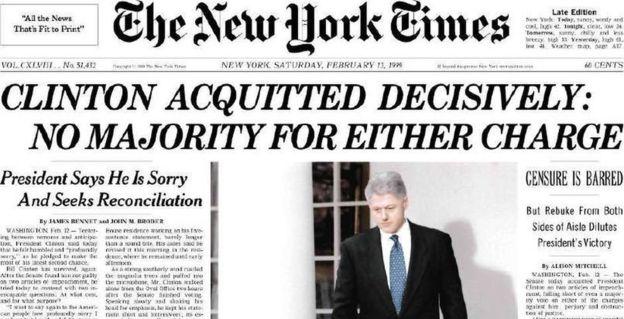 Portada del periódico New York Times