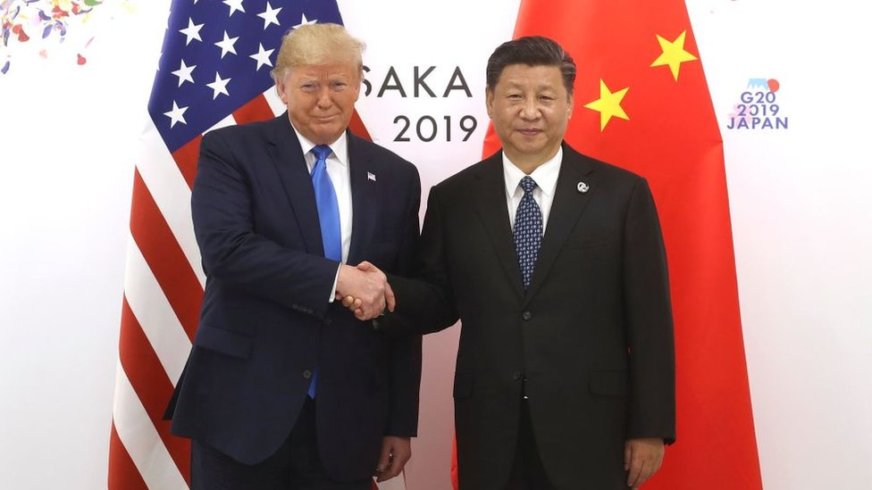 Donald Trump y Xi Jinping en la cumbre del G20 en Osaka, Japón, en junio de 2019