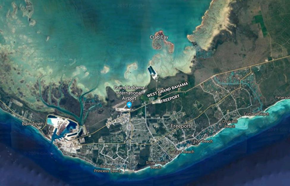 Mapa Gran Bahama