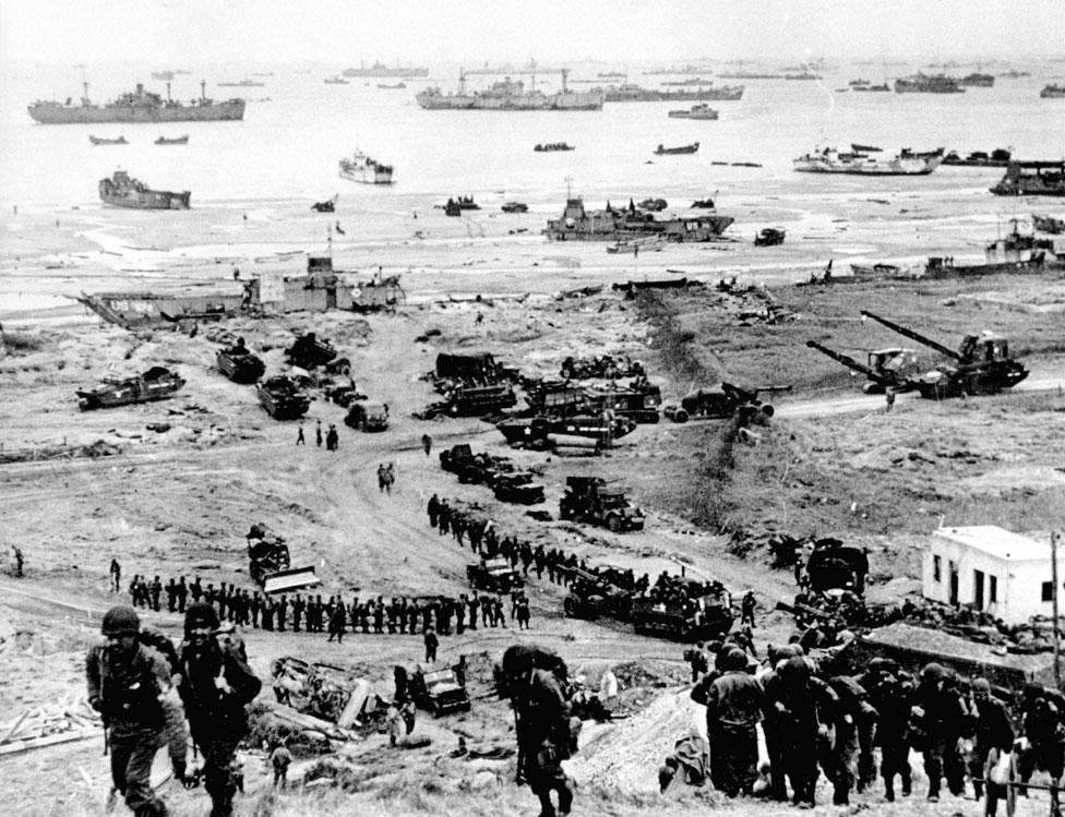 El desembarco en Normandía
