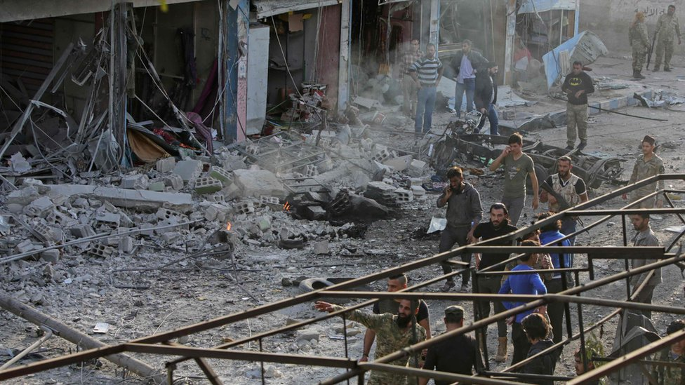 Tal Abyad car bomb: At least 13 killed in Syrian border town - BBC ...