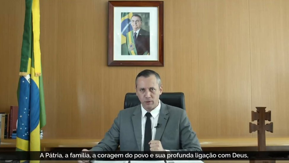 Captura de pantalla del video del secretario de Cultura de Brasil.