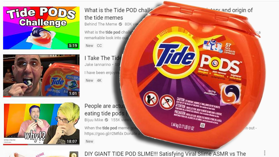 Tide Pod challenge: YouTube blocks videos after poisoning fears