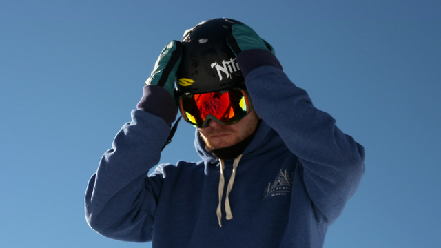 Adaptive snowboarder Owen Pick