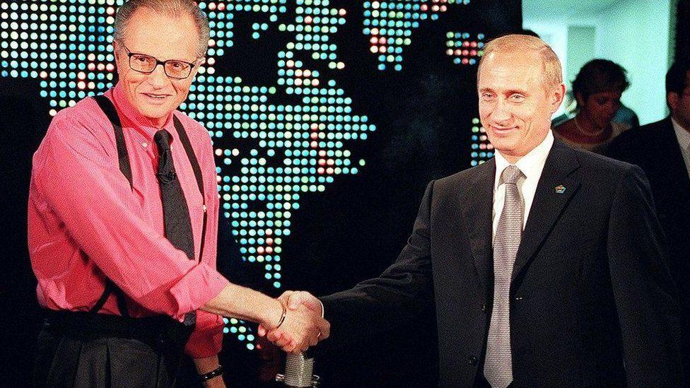 لاري كينغ مع بوتين