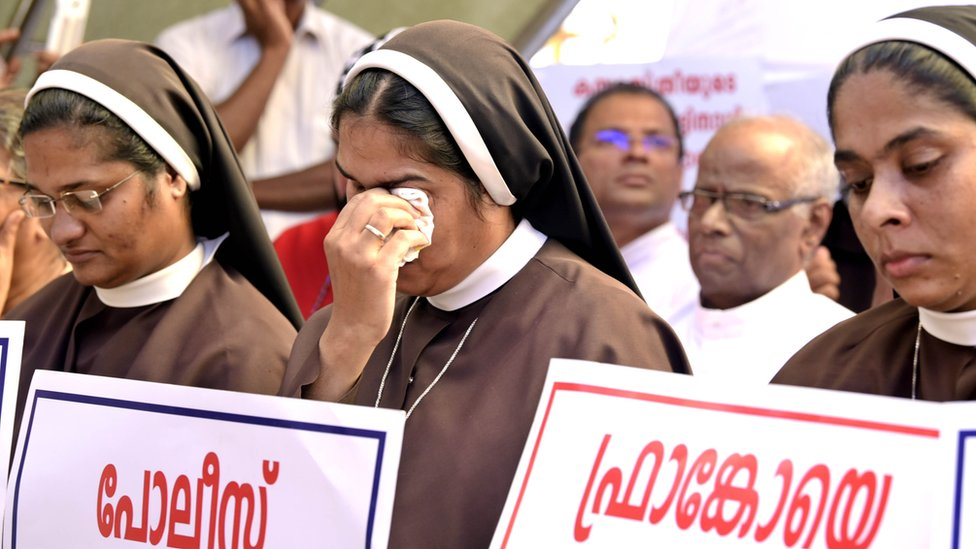 Nuns across Kerala have been protesting, demanding that the bishop be arrested.