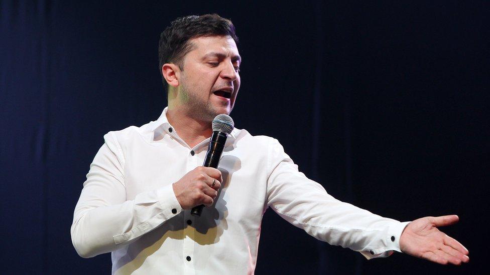 زيلينسكي في عرض كوميدي يوم 29 مارس/آذار الماضي