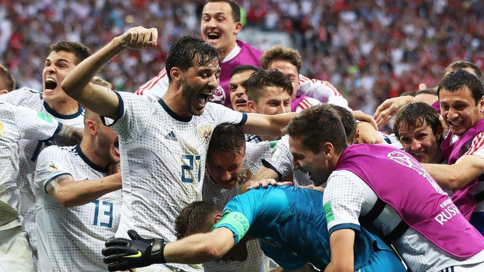 Rusia se clasificó a unos cuartos de final por primera vez en su historia.