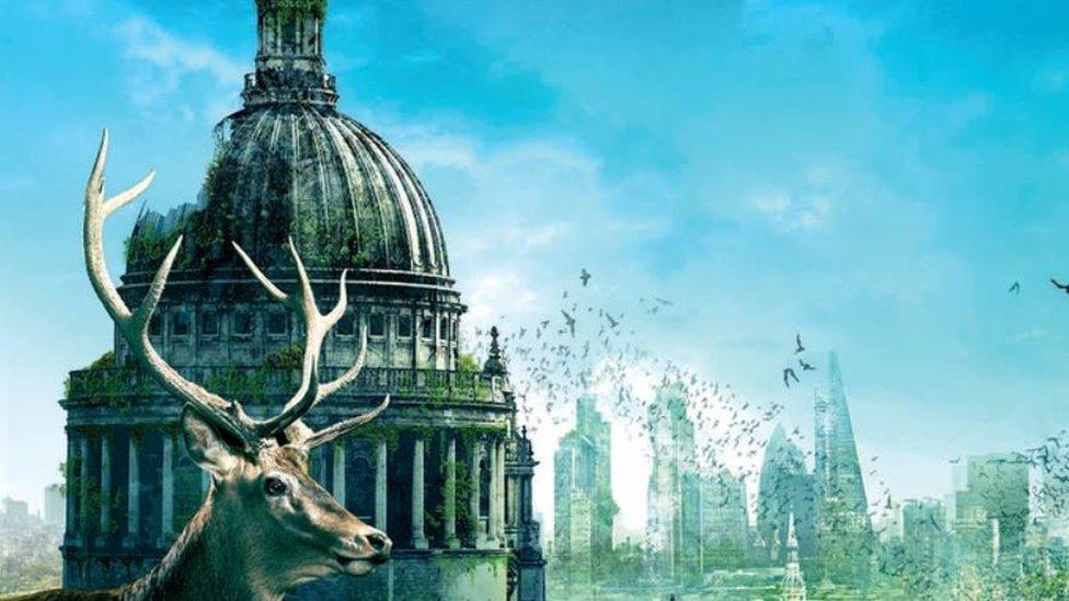 Ilustración de una extinción humana.