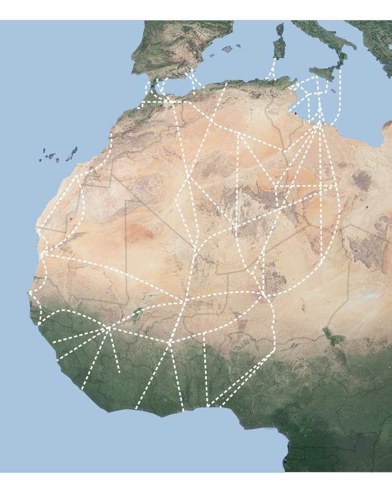 Rutas migratorias de África hacia Europa.