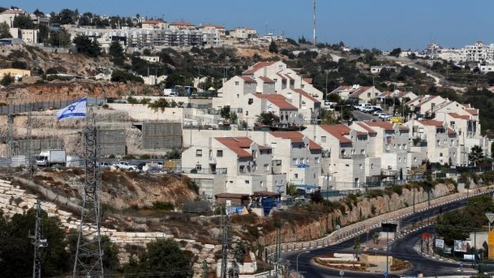 A general view shows the Jewish settlement of Kiryat Arba in Hebron, in the occupied West Bank on 11 September 2018.