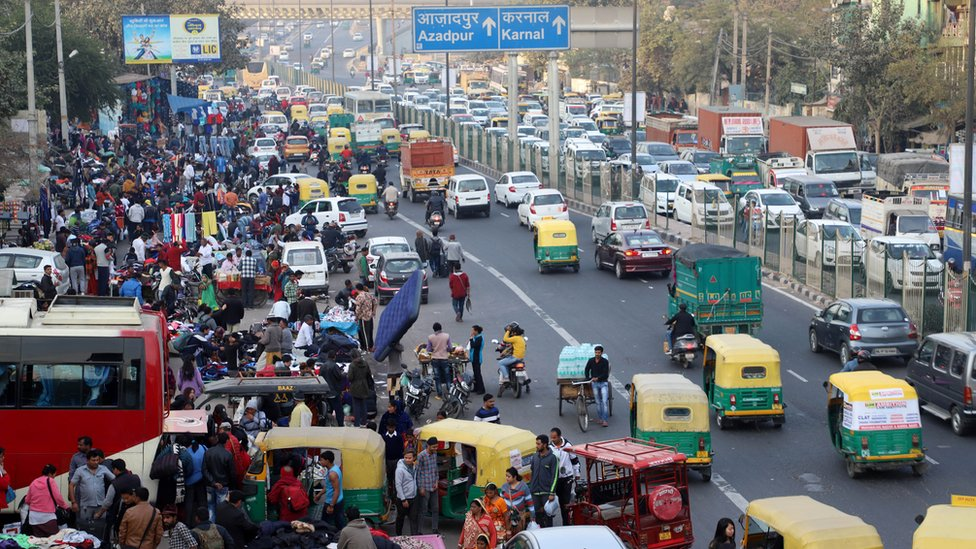 Delhi street scene