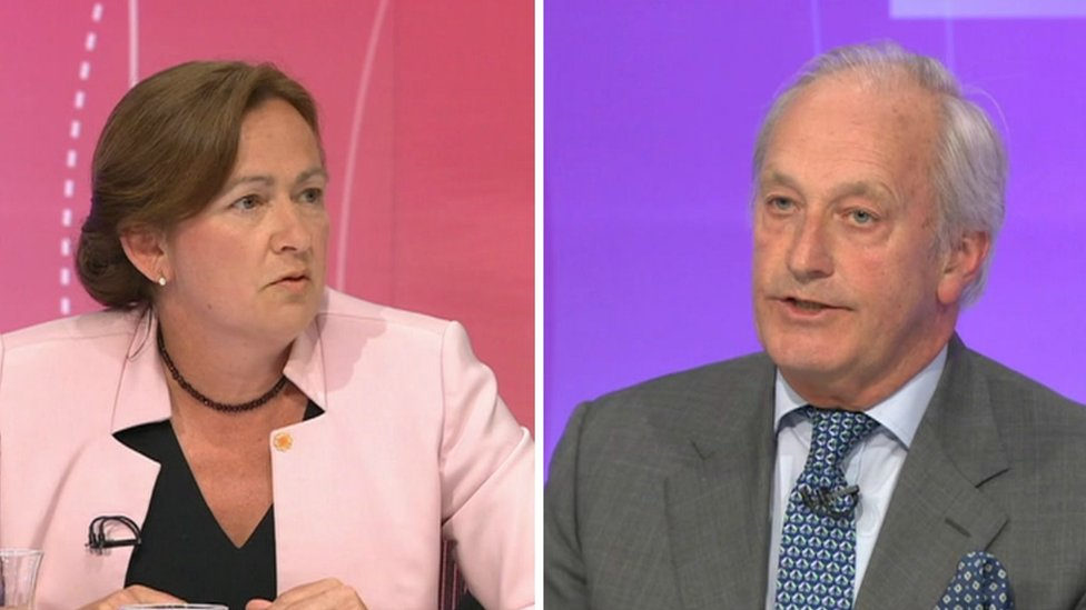 Liz Saville-Roberts and Neil Hamilton on Question Time