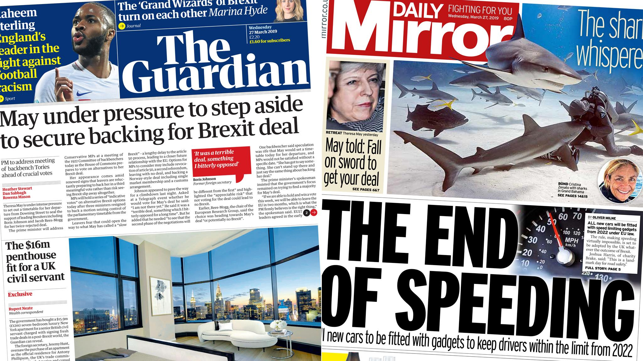 The Papers: PM urged to quit... and an end to speeding?