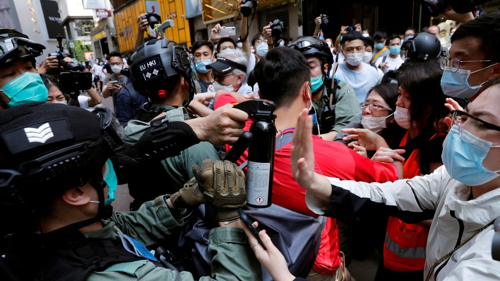 تظاهر في هونغ كونغ - 27 مايو 2020