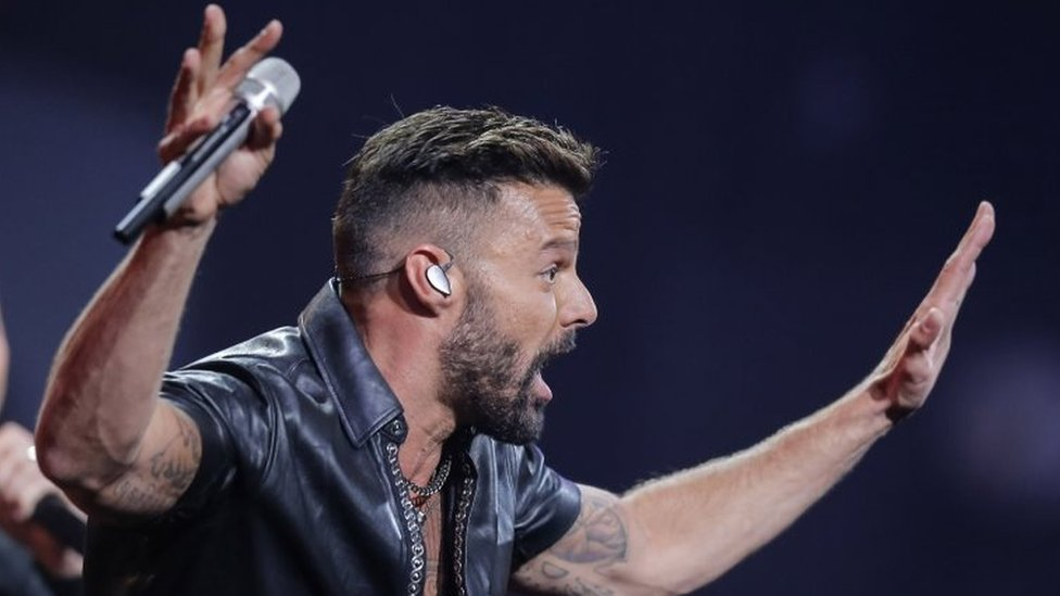 Puerto Rican singer Ricky Martin performs during the 61st Vina del Mar International Song Festival on 23 February, 2020