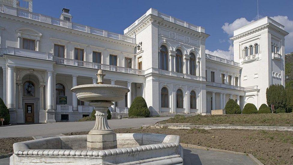 Grupni pregovori na samitu u Jalti održali su se u Palati Livadija