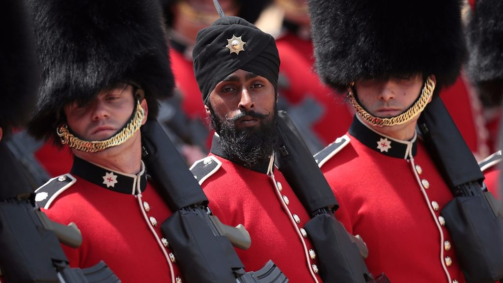 'I'm glad I was the first guardsman to wear a turban'