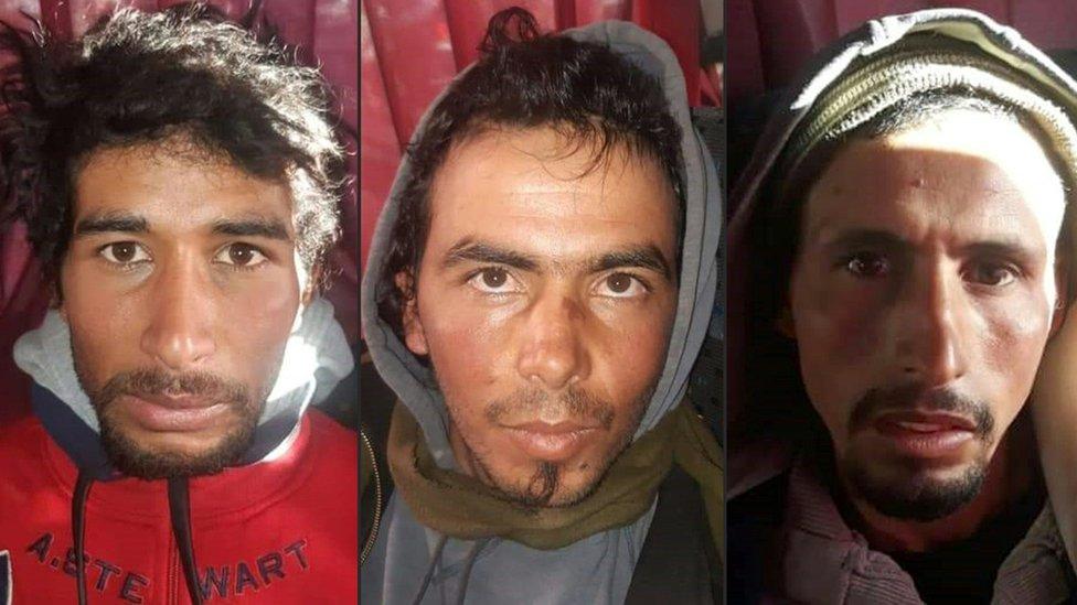 Rachid Afatti, Ouziad Younes y Ejjoud Abdessamad