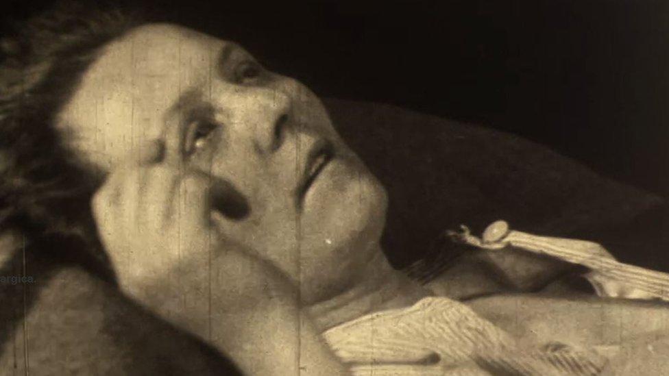 A woman suffering from flu
