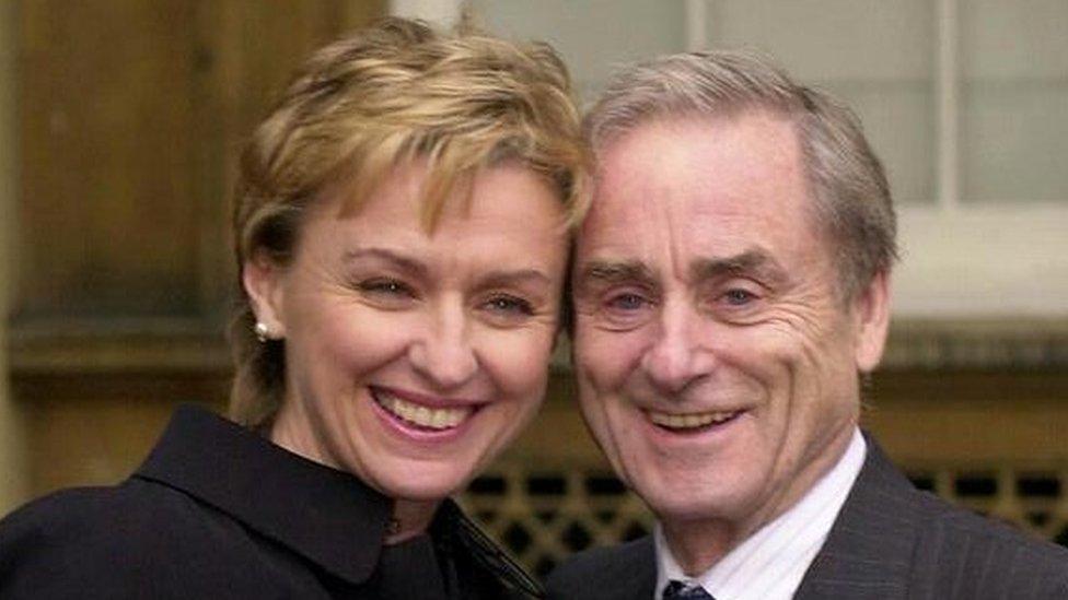 Tina Browne and Harold Evans