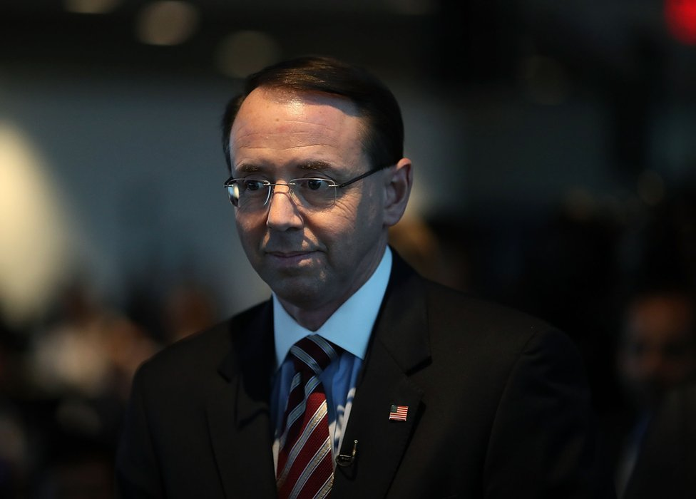 US Deputy Attorney General Rod Rosenstein in Washington, 29 January