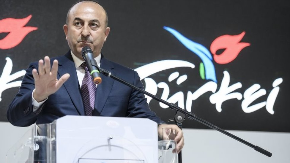 Turkish Foreign Minister Mevlut Cavusoglu in Berlin. Photo: 8 March 2017