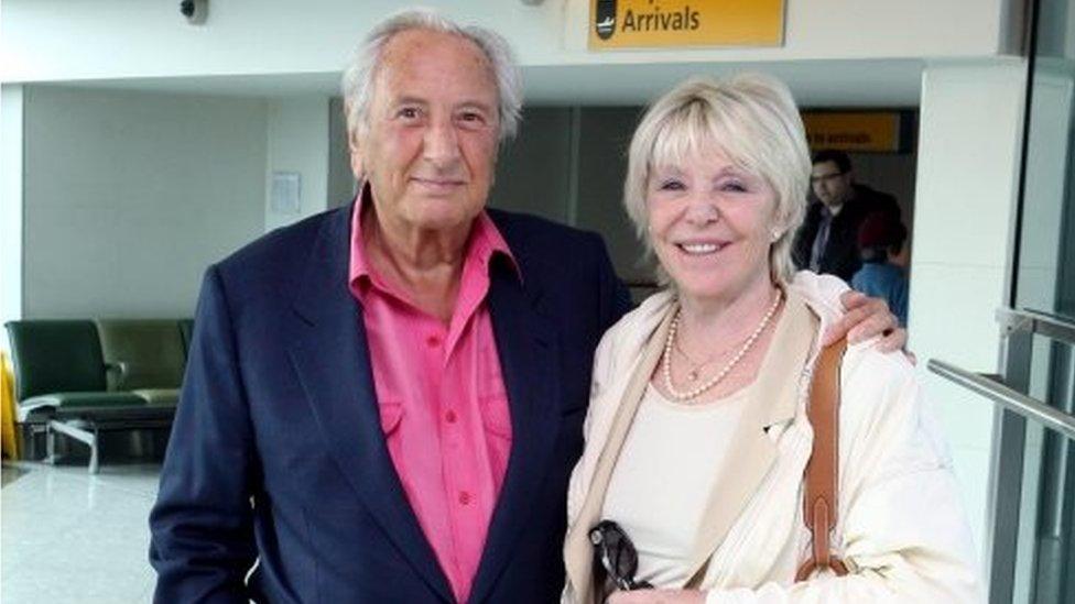 Michael Winner with his wife Geraldine