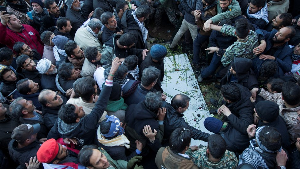 Funeral del general Qasem Soleimani.Soleimani