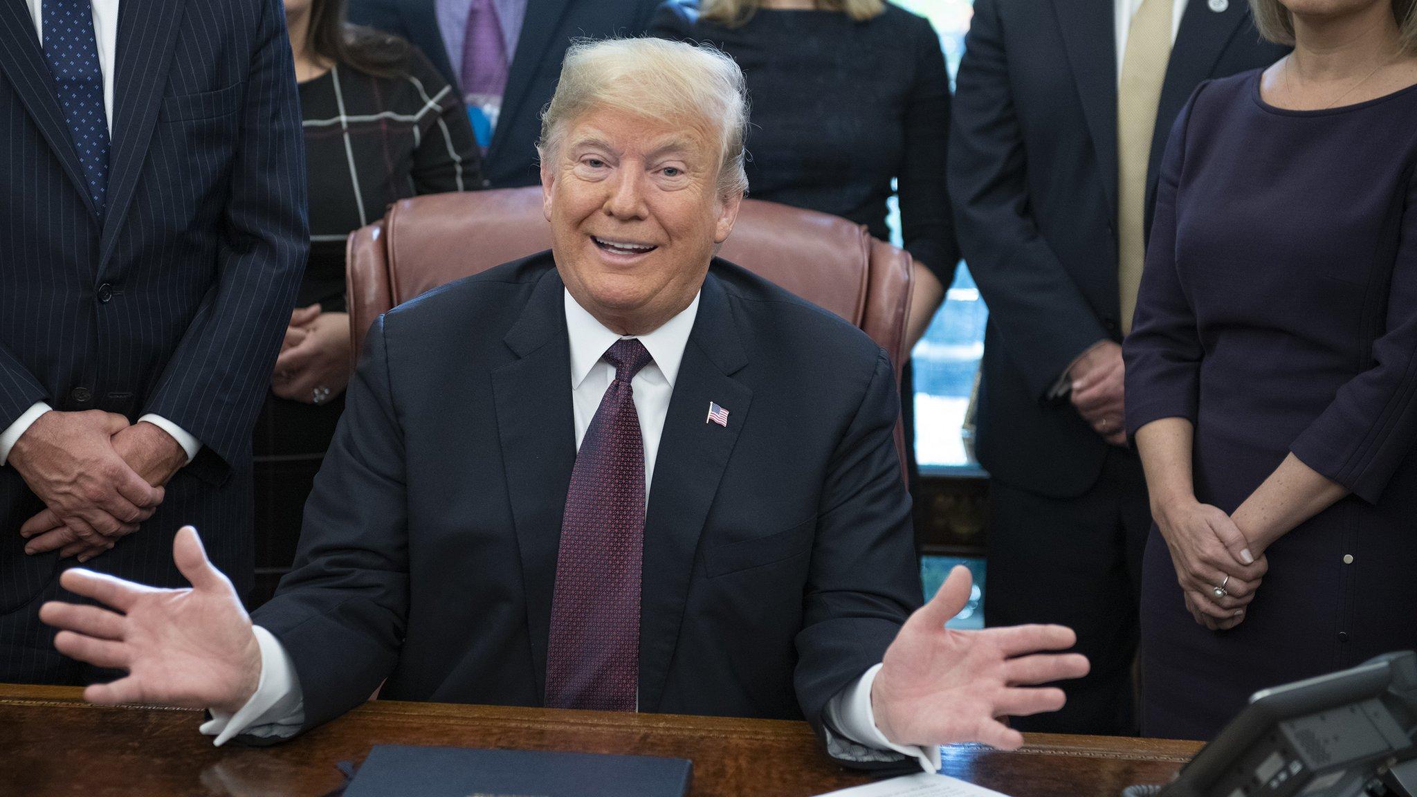 Trump raises hopes of China trade deal