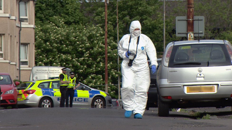 Police probe after gunshots fired at car in Glasgow