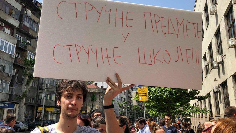 protest Prva gimnazija