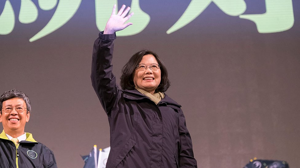Tsai Ing-wen on the campaign trail