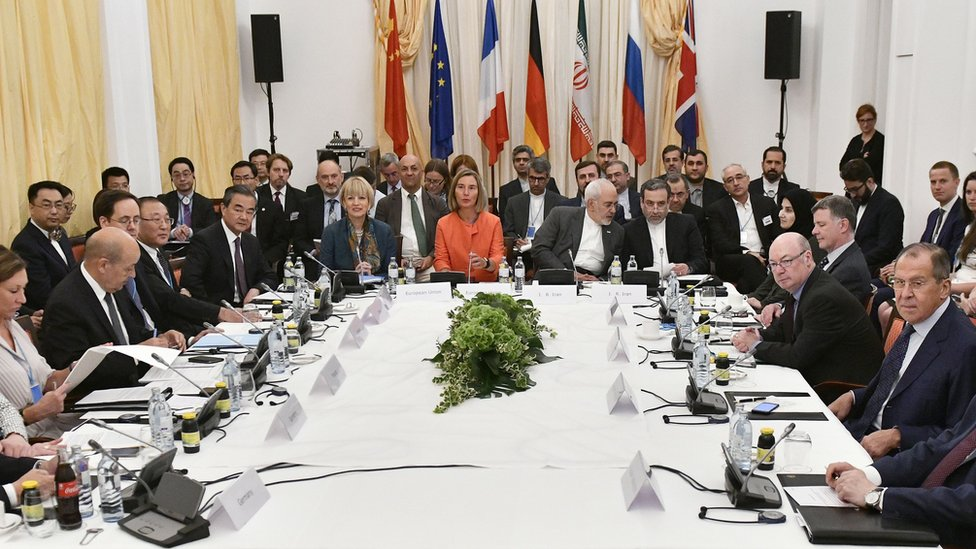 Representatives of countries party to the Joint Comprehensive Plan of Action (JCPOA) meet in Vienna to try to salvage the deal (6 July 2018)
