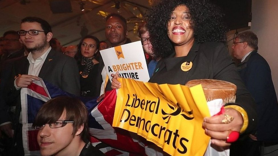 Lib Dem supporters at the launch of the party's manifesto in east London