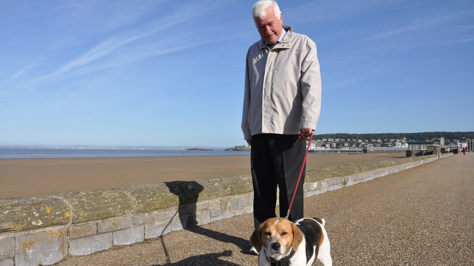 Ron Hunter with dog