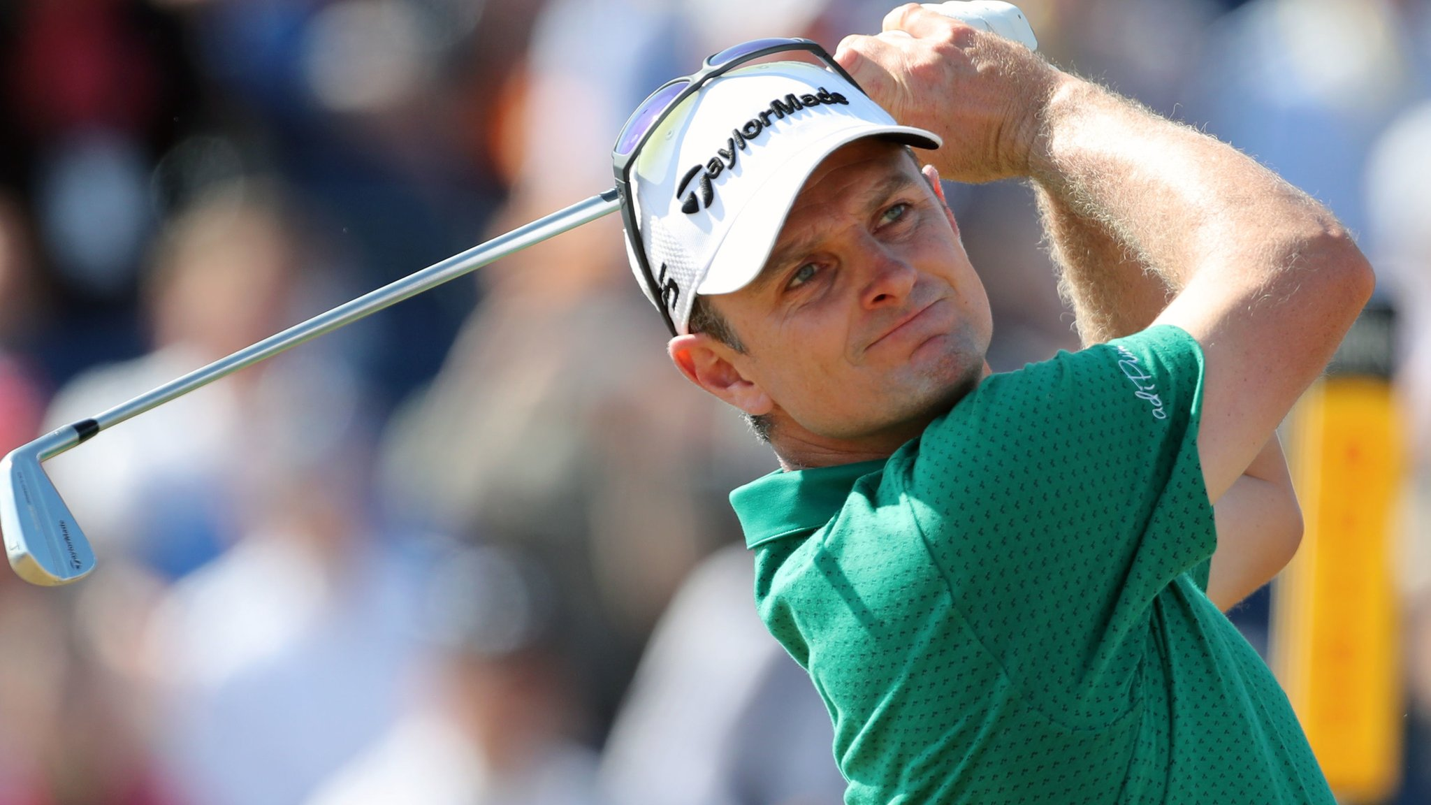 The Open 2018: Justin Rose shoots 64 at Carnoustie